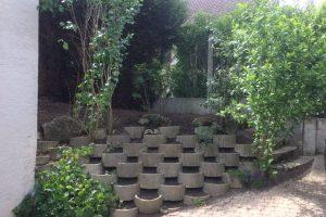 Aménagement d'un muret végétal